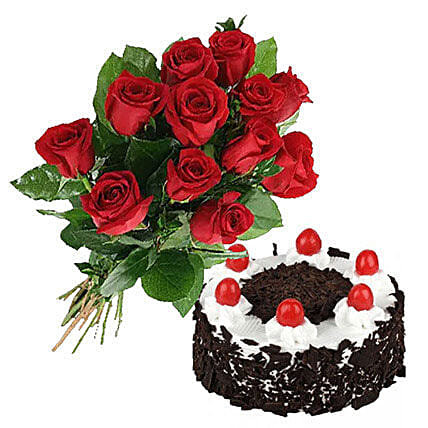 Black Forest Cake N Roses Send Cakes To Canada