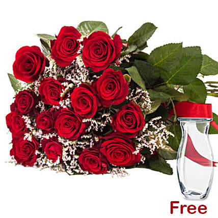 Bouquet Of Rose And Limoniums Birthday Gift Delivery Germany