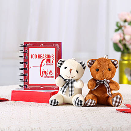 100 Reasons Love Book & Teddy Combo: Valentine Gift Combos