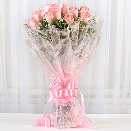 12 Splendid Pink Roses Bouquet Birthday Gifts For Friend