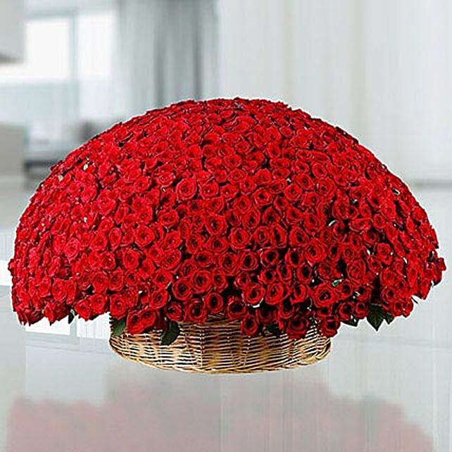 365 Red Roses Basket: Exotic Rose Arrangements