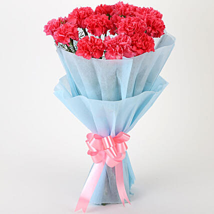 Adorable Pink Carnations Bouquet: Send Gifts to Faridabad