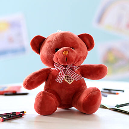 Adorable Teddy Bear- Maroon: Girlfriends Day Gifts