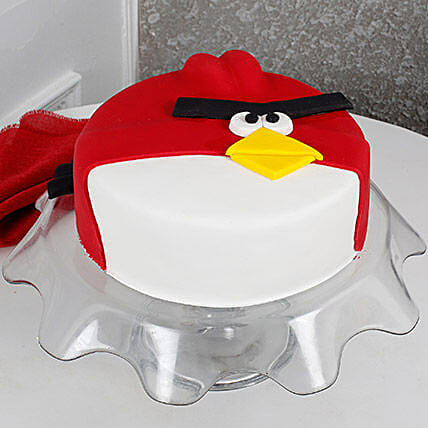 Angry Bird Fondant Cake: Gifts for Childrens Day