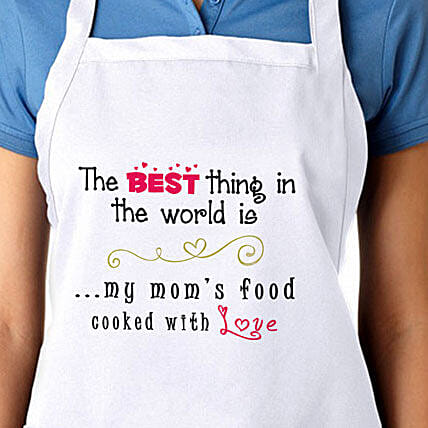 Apron For My Moms Food With Love: Aprons Gifts