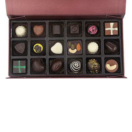 Assorted Chocolates In Designer Box: Handmade Chocolates