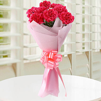 Beautiful Pink Carnations Bouquet: Send Carnations