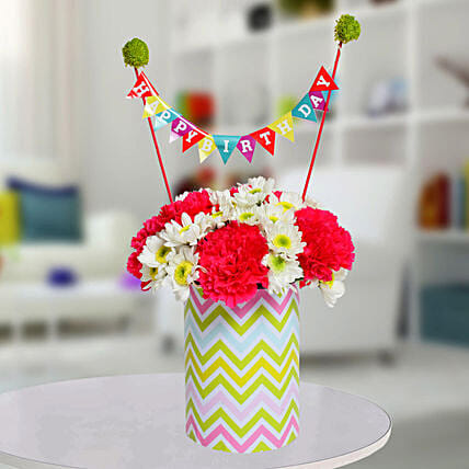 Special Birthday Vase Arrangement: Gift Ideas