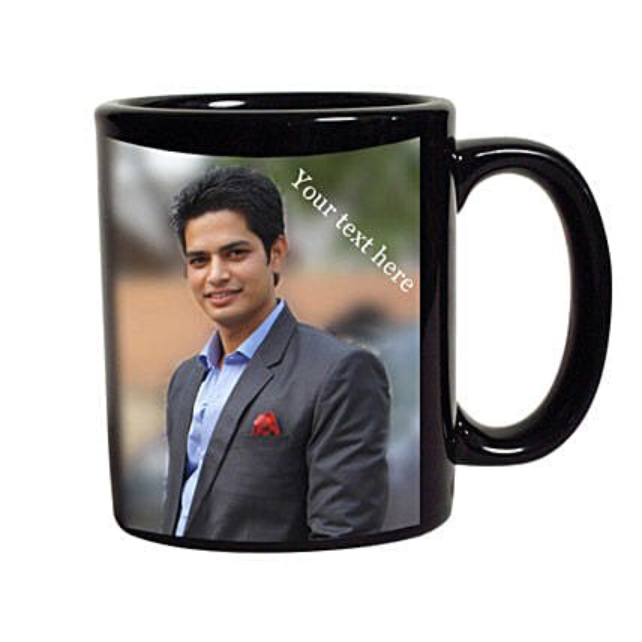 Black Mug Personalized: Anniversary Personalised Gifts