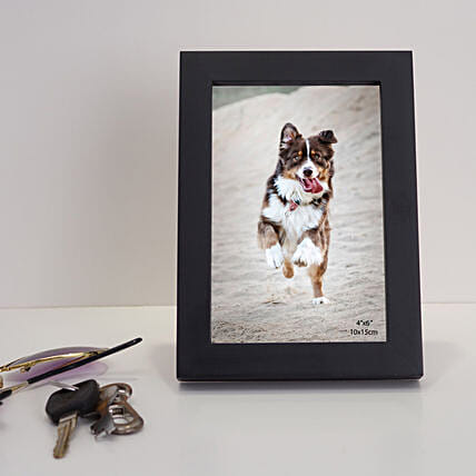Black Rectangular Wooden Photo Frame: Personalised Photo Frames Gifts