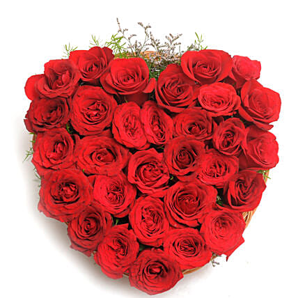 Heart Shaped Red Rose Arrangement: Heart Shaped Gifts