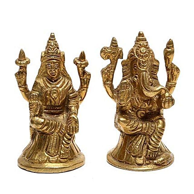 Brass Lakshmi Ganesha Idol: Laxmi Ganesha Idol Gifts