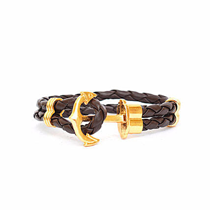 Brown anchor Braided Bracelet: Friendship Day Bands