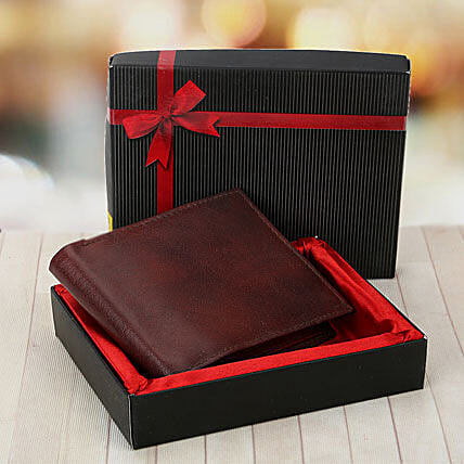 Brown Wallet: Send Leather Gifts
