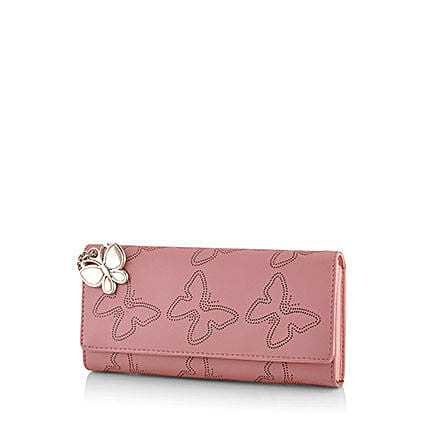Butterflies Baby Pink Wallet: Handbags and Wallets Gifts