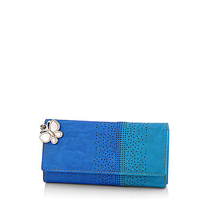 Butterflies Beautiful Blue Wallet: Handbags and Wallets