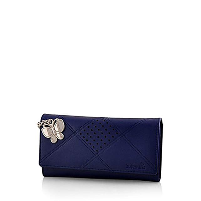 Butterflies Exotic Blue Wallet: Handbag Gifts