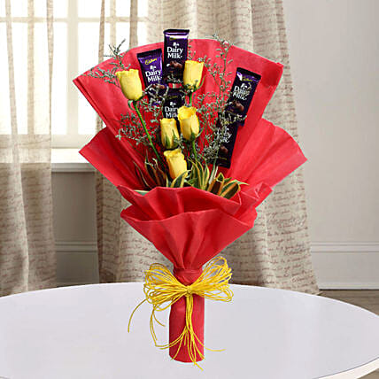 Cadbury With Rose: Flower Combos