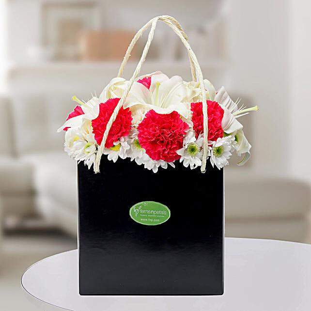 Carnations N Asiatic Lilies Arrangement: Lilies