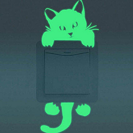 Cat Switch Stickers Set Of 2: Halloween Gifts