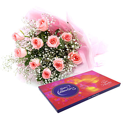 Celebrations with Pink Roses: Return Gifts