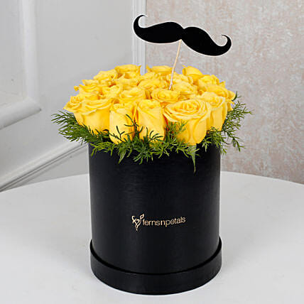 Cheerful Yellow Roses For Him Birthday Gifts Father