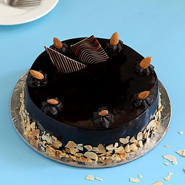 Chocolate Almond Cake: Eggless Cakes