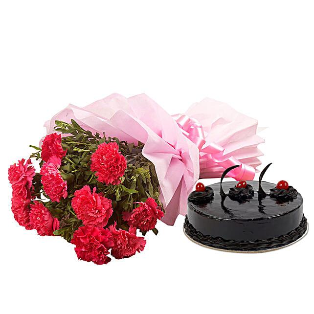 Chocolate Cake N Flowers: Flowers & Cake Combos