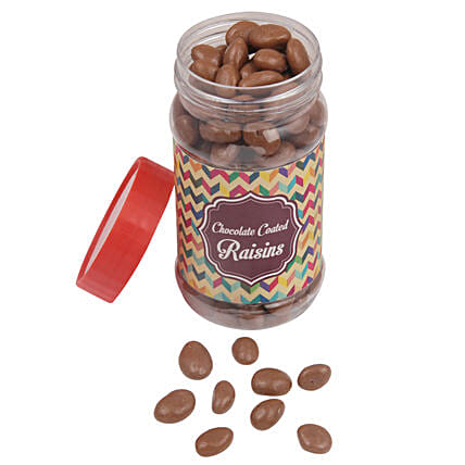 Chocolate Coated Raisin Jar: Friendship Day Chocolates