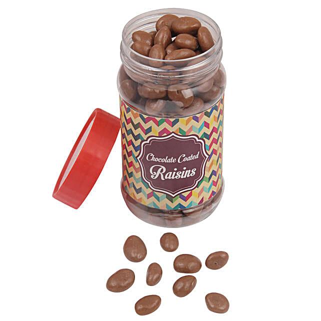 Chocolate Coated Raisin Jar: Chocolate Gifts in India