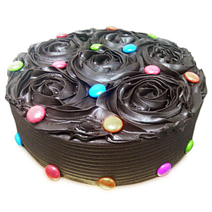 Chocolate Flower Cake: Designer Cakes