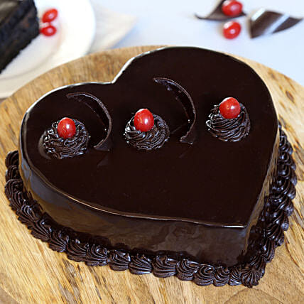 Chocolate Truffle Heart Cake