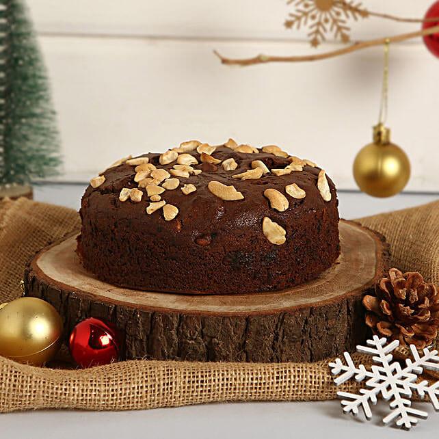 Plum Cake With Cashews: Eggless Cakes