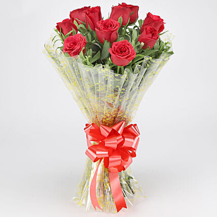 Classic Red Roses Bouquet: Hug Day Gifts