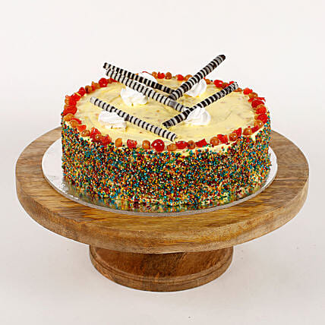 Colored Vermicelli Cream Cake: