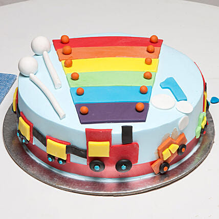 Cool Train First Birthday Cake: Send Designer Cakes