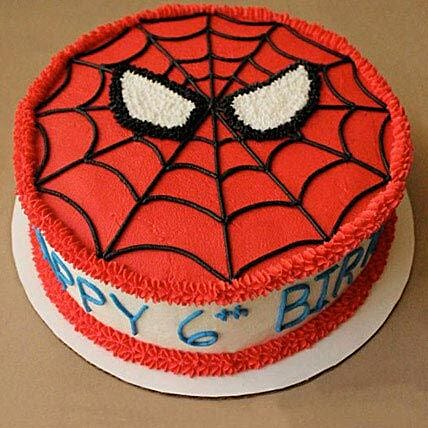 Creamy Spiderman Treat Cake Cartoon Cakes