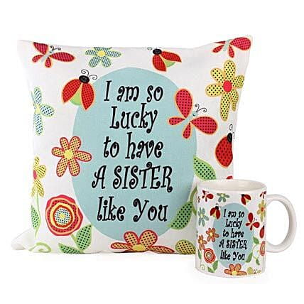 Cushion Mug For Sisters Birthday Gifts Sister