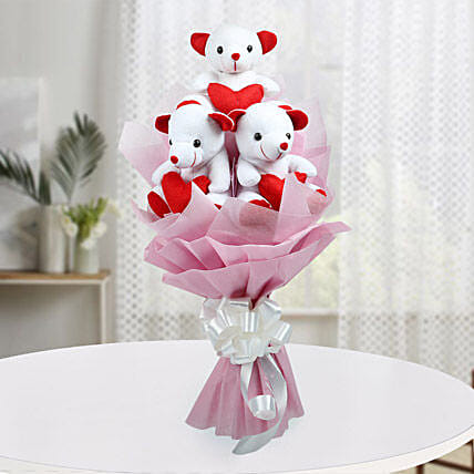 Cute Bouquet Of Teddy Bear: Gifts for 1St Birthday