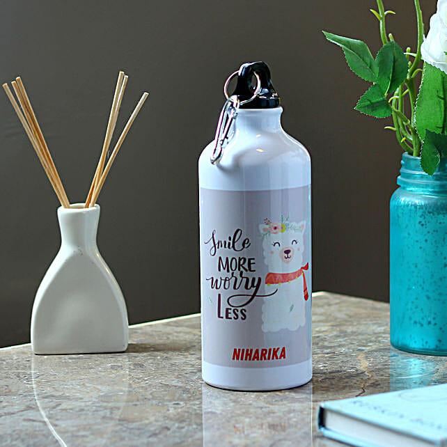 Cute Cat Personalised Steel Bottle: Personalised Message Bottles