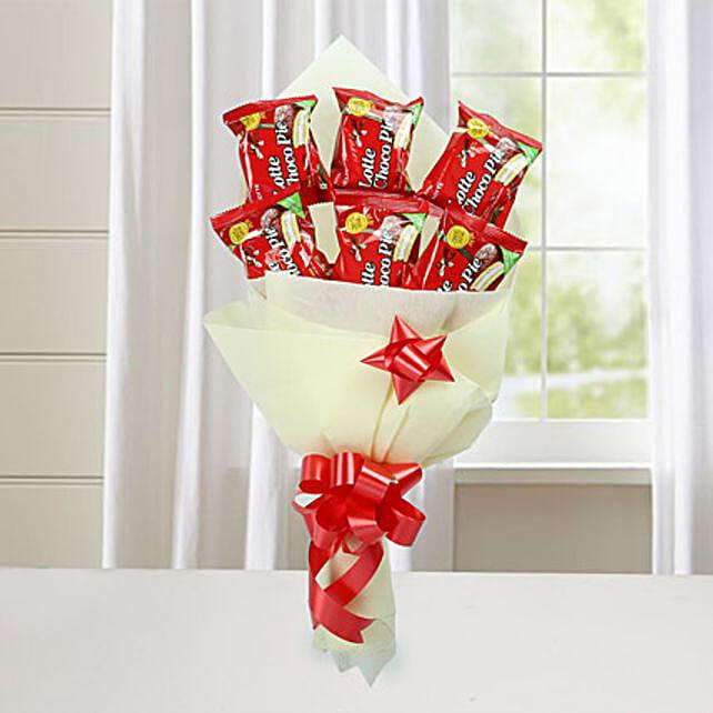 Cute Choco Pie Bouquet: Return Gifts