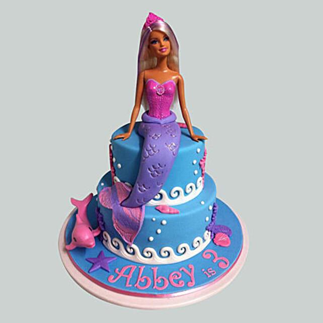 Cute Mermaid Barbie Cake: