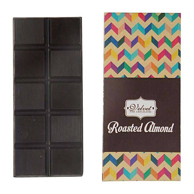 Dark Chocolate Bar Roasted Almonds: Holi Chocolates
