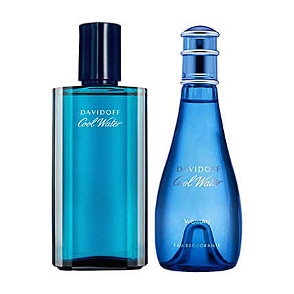 Davidoff Cool Water Men Women Deodorant Set: Girlfriends Day Gifts