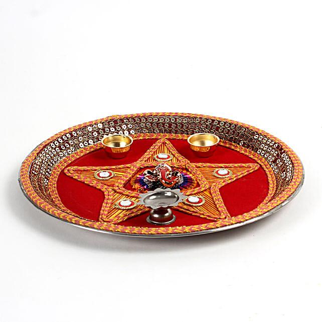 Decorative Steel Pooja Thali: Pooja Thali