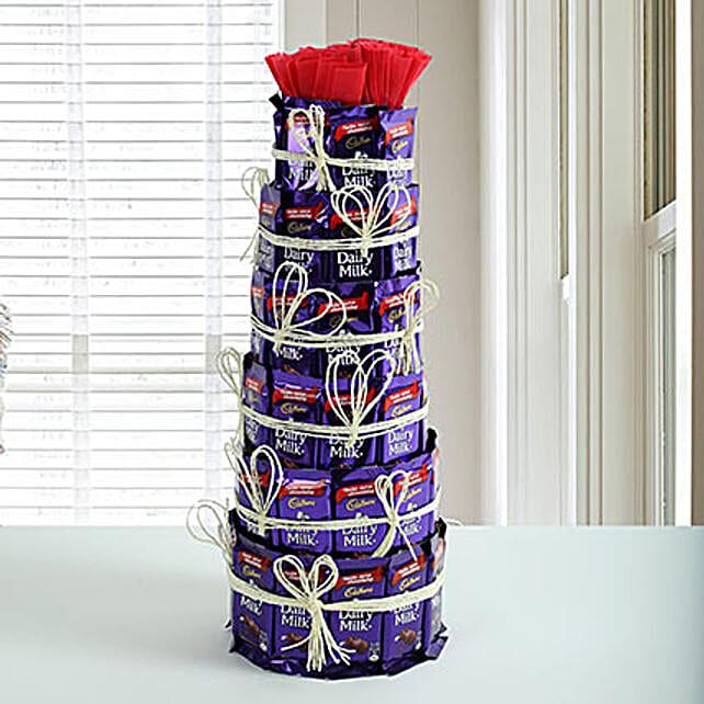 Delicious Dairy Milk Tower: Anniversary Chocolates