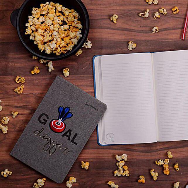Denim Bull's Eye Personalised Notebook: Personalised Stationary
