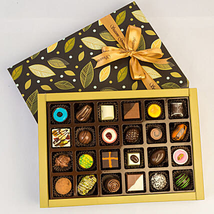 Designer Assorted Chocolates In Beautiful Box- 24 Pcs: Gifts to India