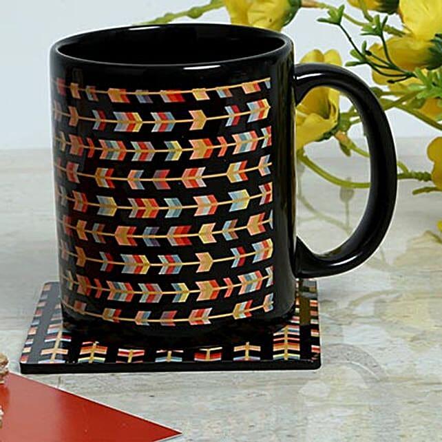 Designer Printed Mug With Coaster: Coasters Gifts