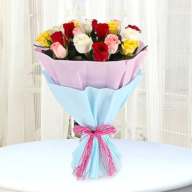 Elegant Mix: Mixed Colour Flowers